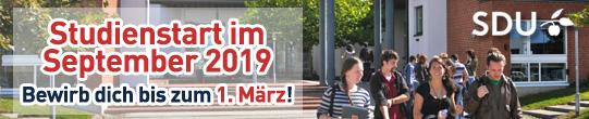 Studienstart September 2018 and er Uni of Southern Denmark