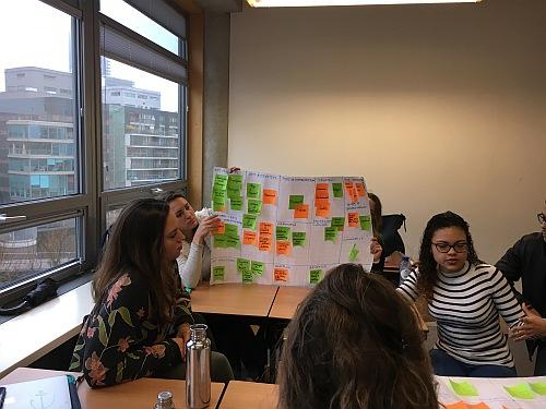 Gruppenarbeit von Studenten der The Hague